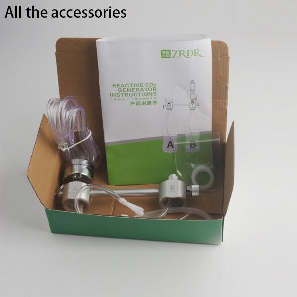 ZRDR Aquarium DIY CO2 Generator System Kit With Pressure Air Flow Adjustment Water Plant Fish AquariumCo2Valve Diffuser 1