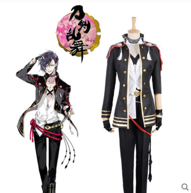 Touken Ranbu Online Cosplay Akashi Kuniyuki Halloween Anime Game Cartoon uniform Man Female Cosplay Costume