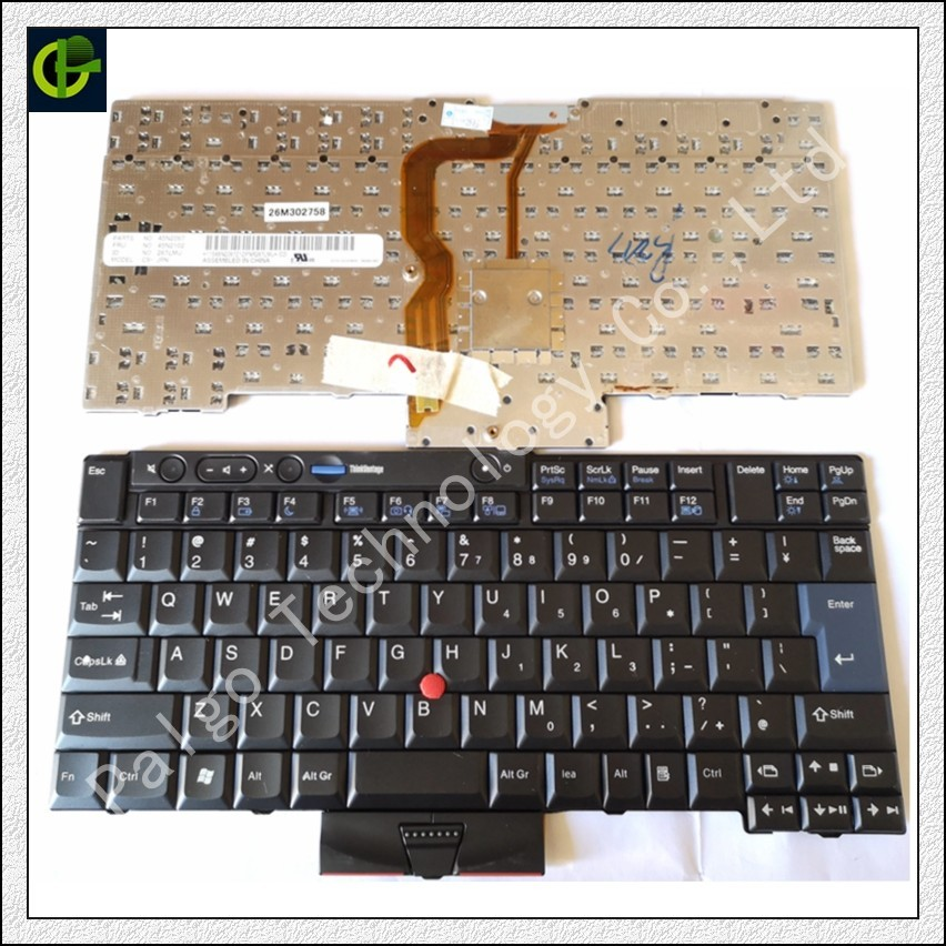 New English Keyboard For LENOVO Thinkpad T410 T420 X220 T510 T510i T520 T520i W510 W520 T400S T410I T420I X220i T410S T420S US