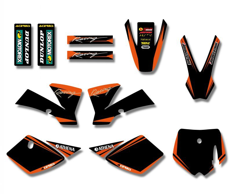 H2CNC GRAPHICS & BACKGROUNDS DECAL STICKERS Kits For KTM SX 50CC 50 SX50 PIT BIKE