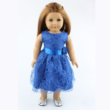 18 inch American girl dolls clothes manually white wedding dresses children Christmas gift free shipping W32