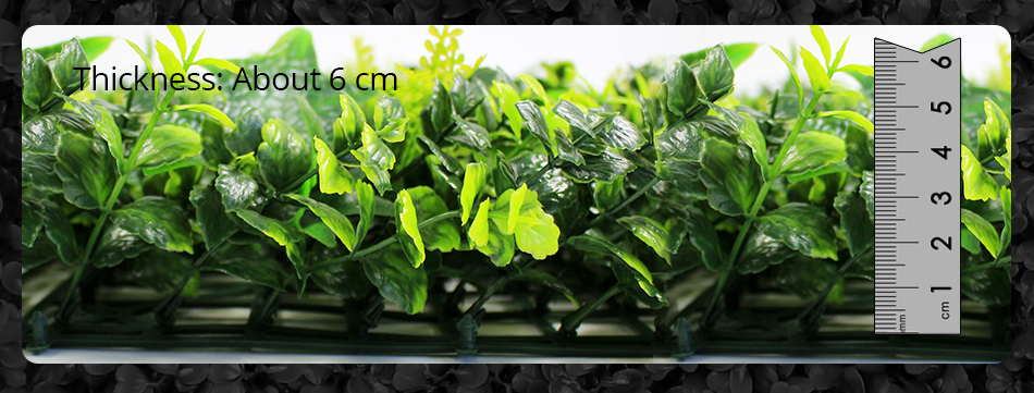 Artificial Ivy Fencing Privacy Grass Fence Plastic UV Decorative Boxwood Topiary Bush Hedges For Garden G0602A0092