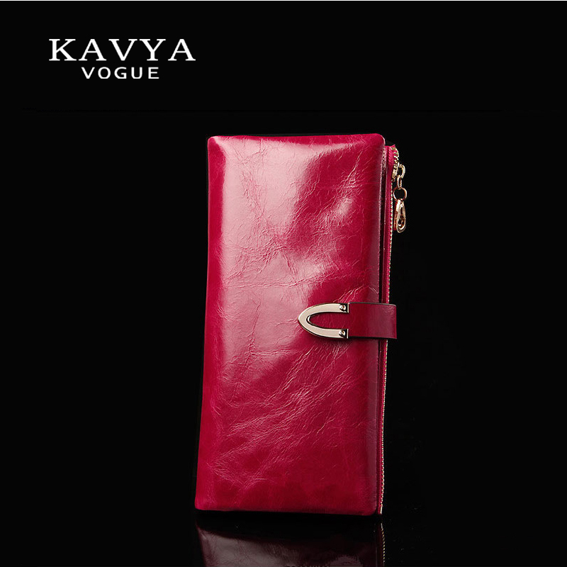 KAVYA Fashion Trends Nya Kvinnor Plånböcker Hjärtformad Multi-Card Position Två Fold Plånbok Lady Clutch Long Section Pung Free Ship