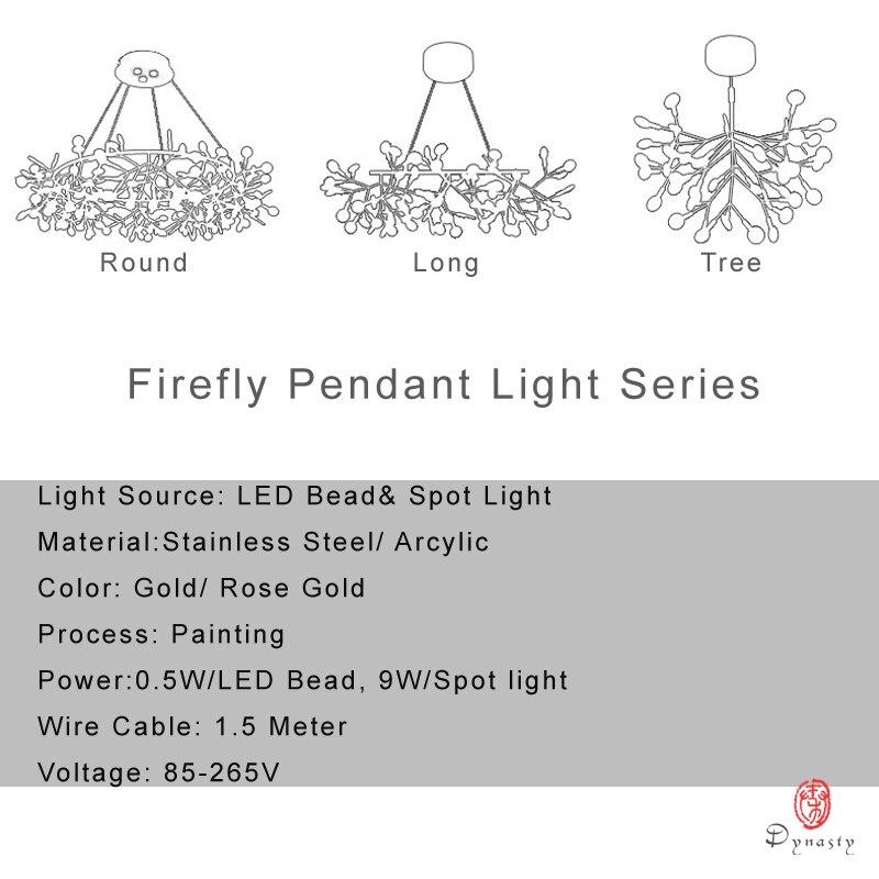 Arte Decorativo rama de olivo colgante estilo europeo luces colgantes LED hojas vestíbulo Sala vestíbulo AC110/220 V Cafe Dynasty envío gratis - 6