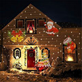 1X 110V/220V Winter Halloween Christmas Led Projector Lamp, 12 Patterns Landscape Garden Lawn Outdoor Wall Lamp Holiday Lights
