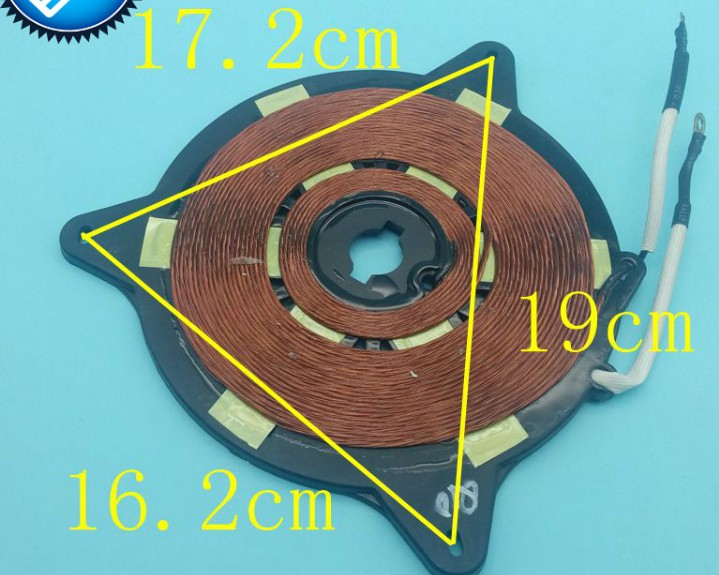 Copper Induction Cooker heating coil/Induction heating plate copper coil reels small stove parts/16.2cmx17.2cmx19cm rice cooker parts paul heating plate 900w thick aluminum heating plate