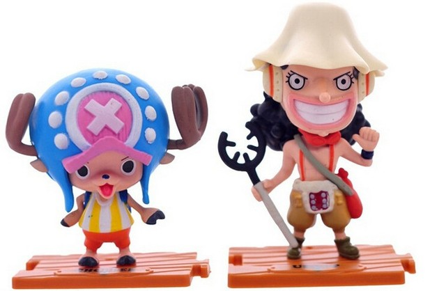 10pcs/lot One Piece Mini Figure Toys