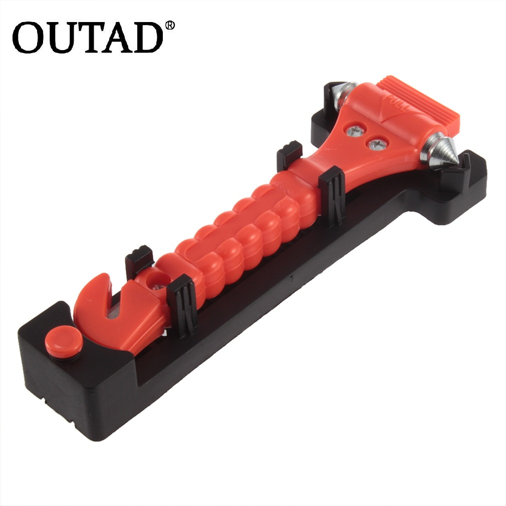 OUTAD New Mini Car Safety Hammer Life Saving Escape Emergency Hammer Seat Belt Cutter Window Glass Breaker Car Rescue Tool