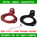 KingMa Smaller Bike Aluminum Handlebar Mount GoPro Hero 4  3 3+ Bicycle Handlebar Seatpost Mount Clamp Clip Holder Free shipping