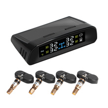 PA Solar Power Wireless Tire Pressure Monitoring Intelligent System TPMS with Cigarette Charger Set