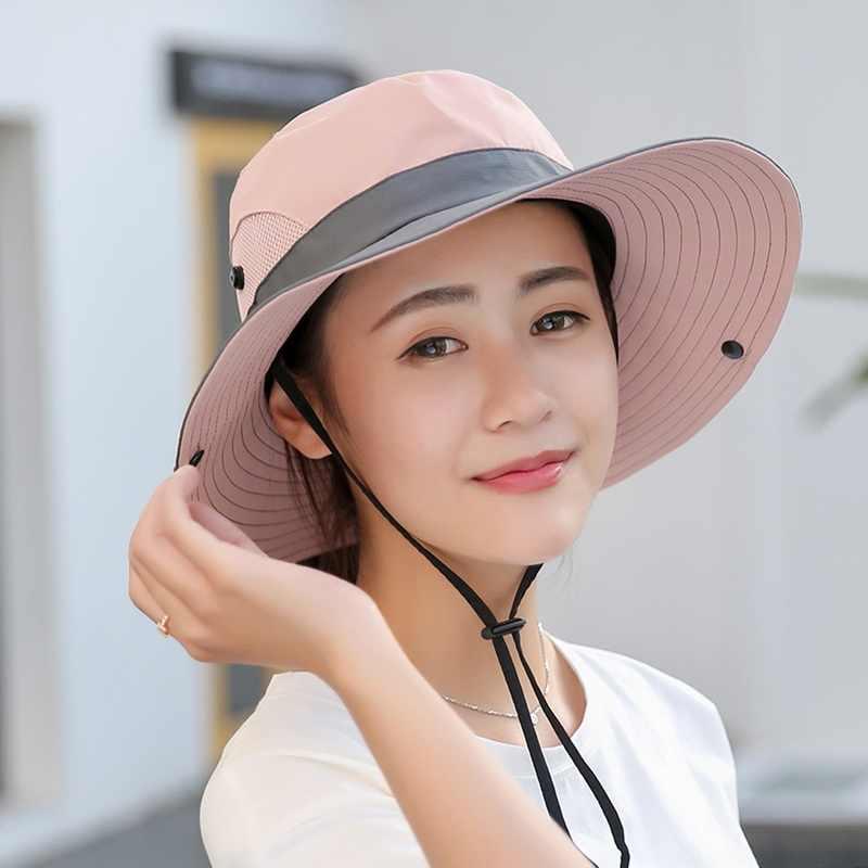 Litthing 2019 Hüte für Frauen Sommer Sonne Breiter Krempe UV UPF Outdoor Jagd Angeln Wandern Hut # Neue