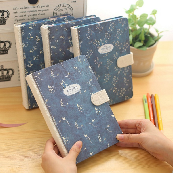 Blue Bird Journal Diary Hard Cover Lined Papers Cute Study Working Notebook Notepad