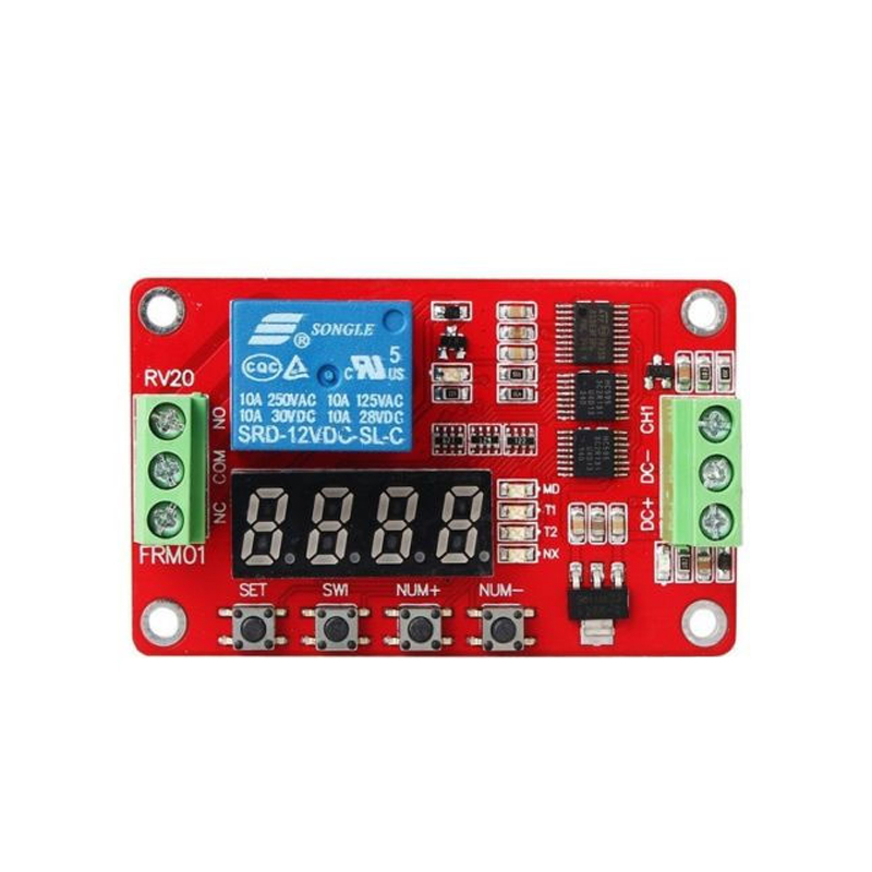 12V DC Multifunction Self-lock Relay PLC Cycle Delay Time Timer Switch Module dc 12v led display digital delay timer control switch module plc automation new