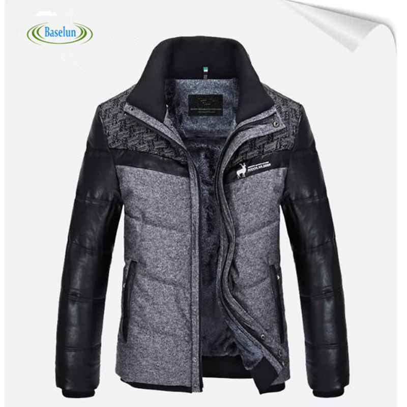 New Winter Mens Fashion Warm Solid Simple Design Coat Mens Loose fitting Comfortable Clothing Hooded Jacket