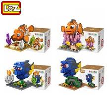 Hot Sale Cartoon Nemo loz diamond blocks lot anime figure new Dory kids toys educational kawaii kids toys for children gift