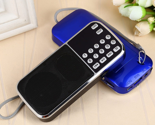 2015 Nueva L-088 Digital Portátil Estéreo Mini Altavoz de la Radio FM Caja de Sonido Reproductor de música con la Tarjeta DEL TF USB AUX de Entrada Negro Rojo azul