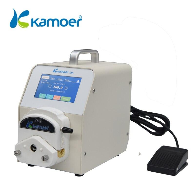 Kamoer Bomba Peristáltica Laboratório da UIP com Steppetr Motor, controle de Wi-fi, Alta Taxa de Fluxo, Interruptor de Pé de Apoio, tela sensível ao toque