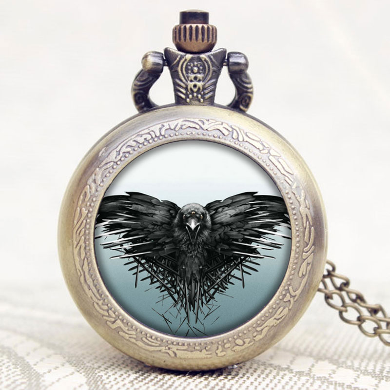 New Arrival The Game of Thrones American Drama Extension All Men Must Die Theme Pocket Watch With Necklace Chain vn in the summer of 2016 popular american tv drama aegis bureau agents luminous printing logo backpack trend a surprise gift