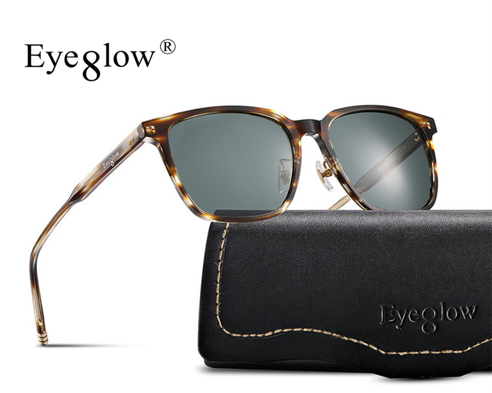 4aa0e4a036803c EyeGlow MAGICK fashion large size square Polarized sunglasses retro design  for men and women driving outdoor