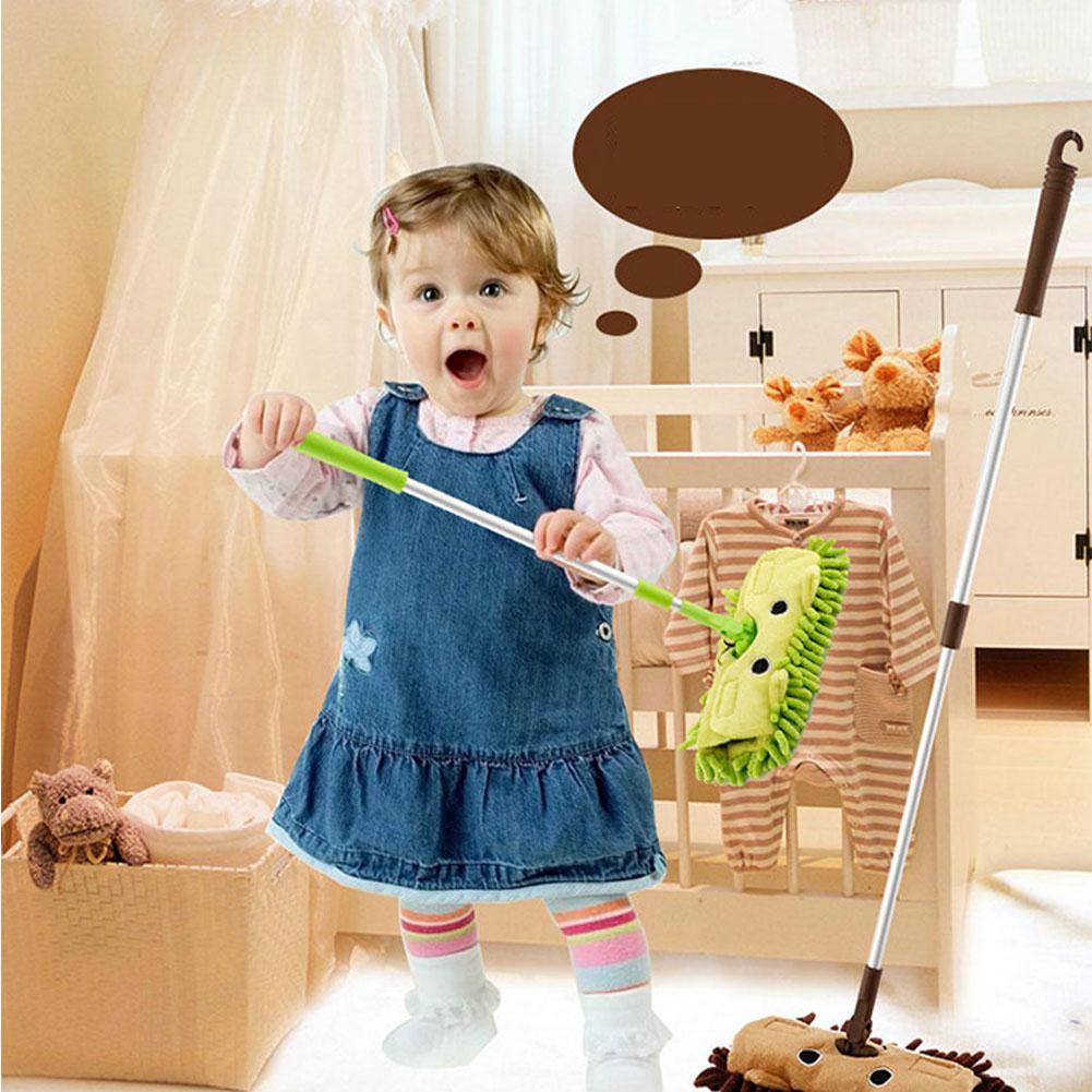 Baby Toy Kids Stretchable Floor Cleaning Tools Mop Broom Dustpan Play-house Toys Gift