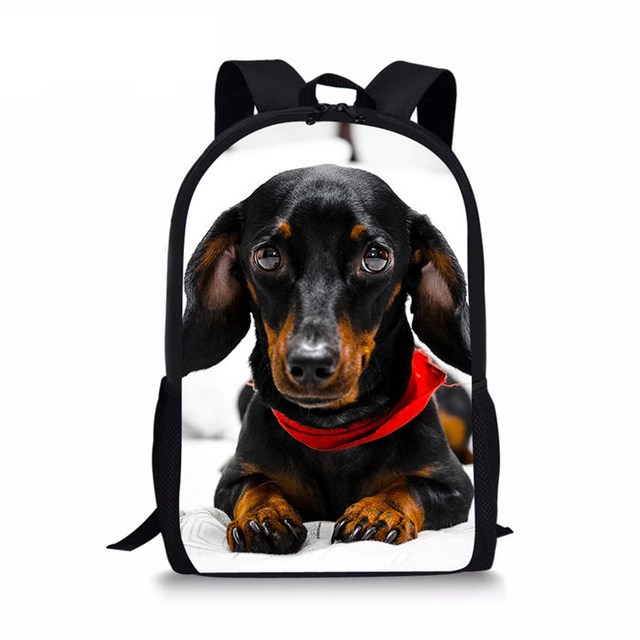 Travel Laptop Backpacks 3D Dachshund Dog Pringt Fashion Girl Boy Costom school bag Kid Bookbag For man women Daily Shoulder Bags