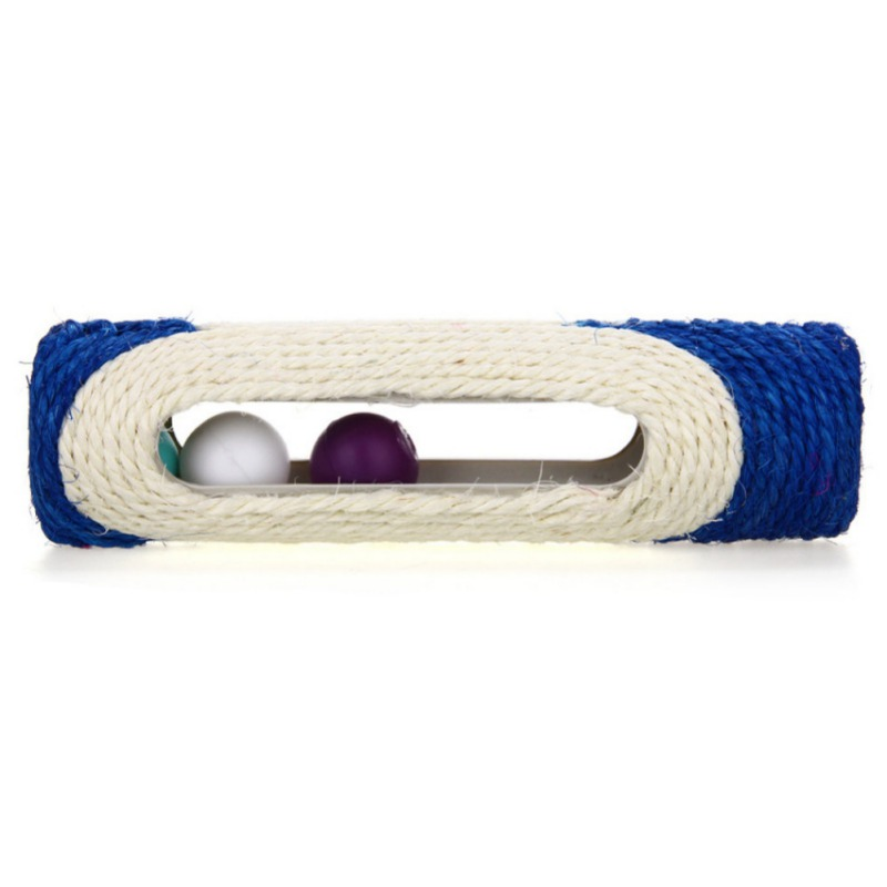 1 Pcs Animal Supplies Pet Cat Toy Long Rolling Scratching Toys 3 Balls Sisal Scratch Post Trapped Ball Training Tool