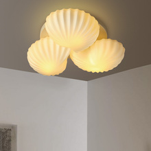 Modern seashells ceiling LED light for living room luminaria bedroom romant lights fixtures creativity lron fashion lamp