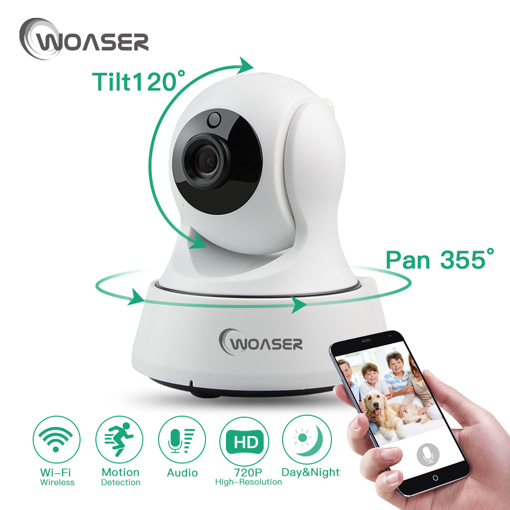WOASER 720P PTZ Wi-fi IP Camera Security IR 10M Night Vision Two Way Audio CCTV Surveillance 1.0MP WIFI IP Camera Wireless P2P