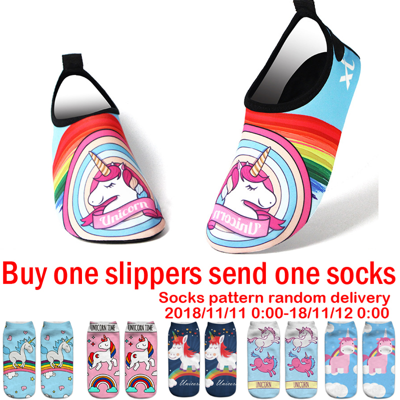 unicorn Children Beach slippers kids Sea Flip Flops Sandals for Girls Boys swimming slipper child home shoes Water Shoes joyyou brand summer beach slippers kids shoes boys girls school sandals children teenage footwear baby for child fashion shoes