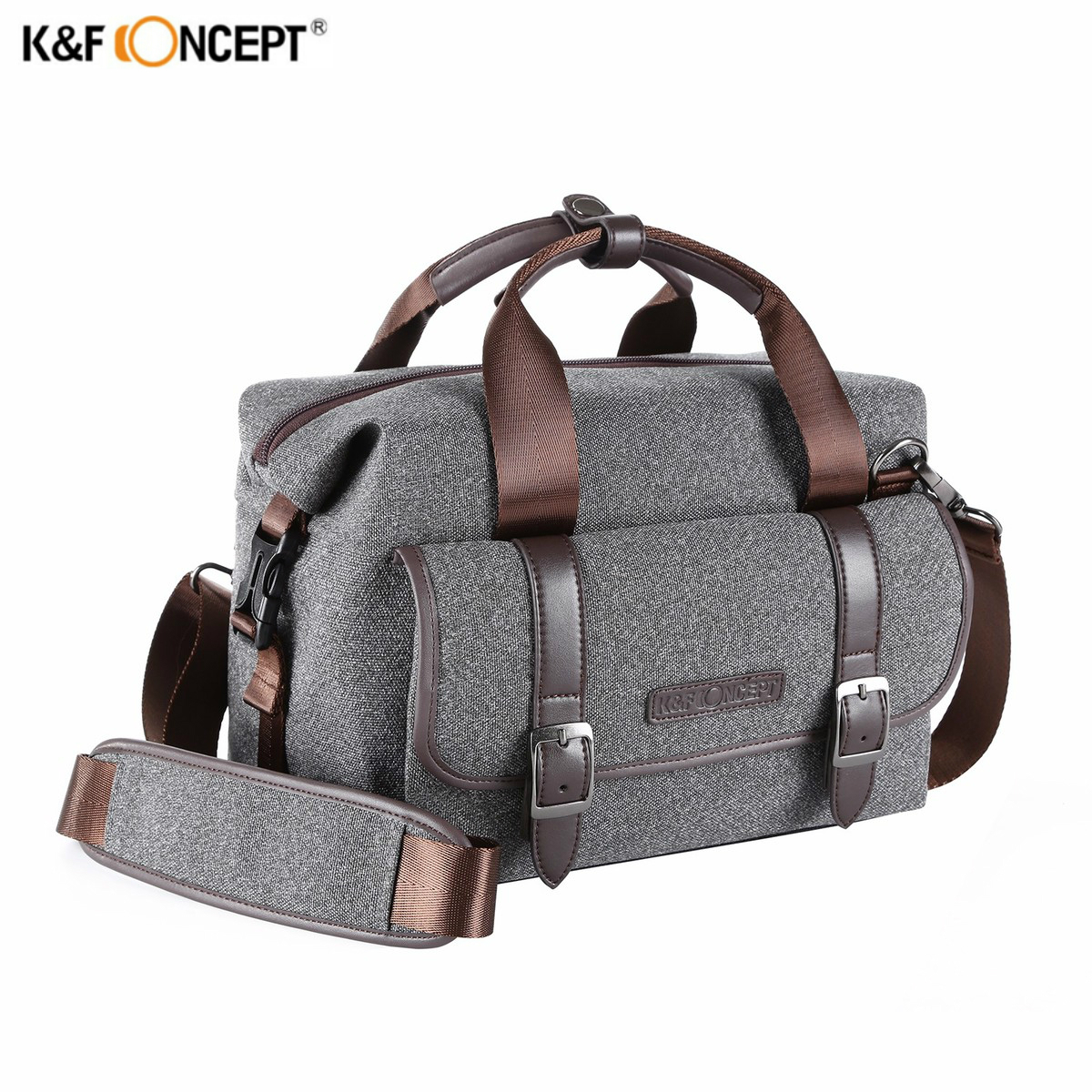 New Arrival K&F CONCEPT Single Shoulder Camera Bag Waterproof Shockproof Travel Photo Bags Leisure Package For Canon Nikon DSLR ozuko brand dslr camera bag fashion chest pack slr camera video photo digital single shoulder bag waterproof school travel bags