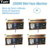 4Pcs/Lot 2000W Mist Haze Machine DMX Remote Control Party Lights Effect Smoke Machine LED Fogger Stage Effect Light Fog Machine