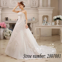 Free Shipping Vestidos De Novia Real Photo Sleeveless Sequins Bling Wedding Dress Cheap White Princess Bride Gowns XXN001 4