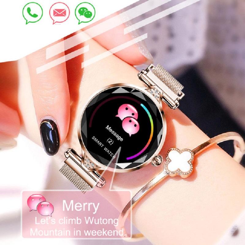 H1 Smart Bracelet Women Fashion Heart Rate Monitor Smartband Lady Gift Fitness Bracelet Pedometer for IOS