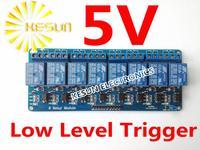 무료 배송 8 채널 5 볼트 낮은 수준의 트리거 릴레이 모듈 PIC ARM DSP PLC ARM MSP430 PLC TTL