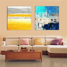 100% Hand Painted blue canvas Paintings Modern Home Decor Wall Art Picture Made abstract Oil Painting On Canvas No Frame