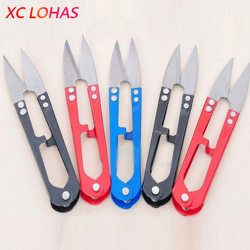 1x Stainless Quality U Type Mini Scissors Fishing Use DIY Garden Tailor First Aid Sewing Pipe Cutter Scissors Hot Sale
