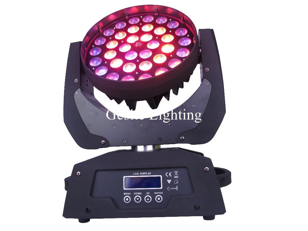 free gratis 36x10 w rgbw 4in1 led feixe moving head led wash luzes do palco com
