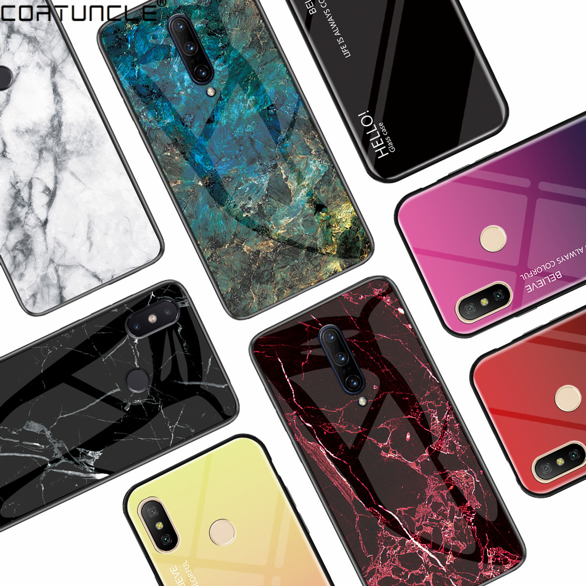 Marble <font><b>Hard</b></font> Tempered Glass <font><b>Case</b></font> For Coque <font><b>Nokia</b></font> 4.2 <font><b>Case</b></font> Gradient Protective Back Cover For <font><b>Nokia</b></font> 1 7 <font><b>3.1</b></font> 6.1 7.1 X71 Phone <font><b>Case</b></font> image