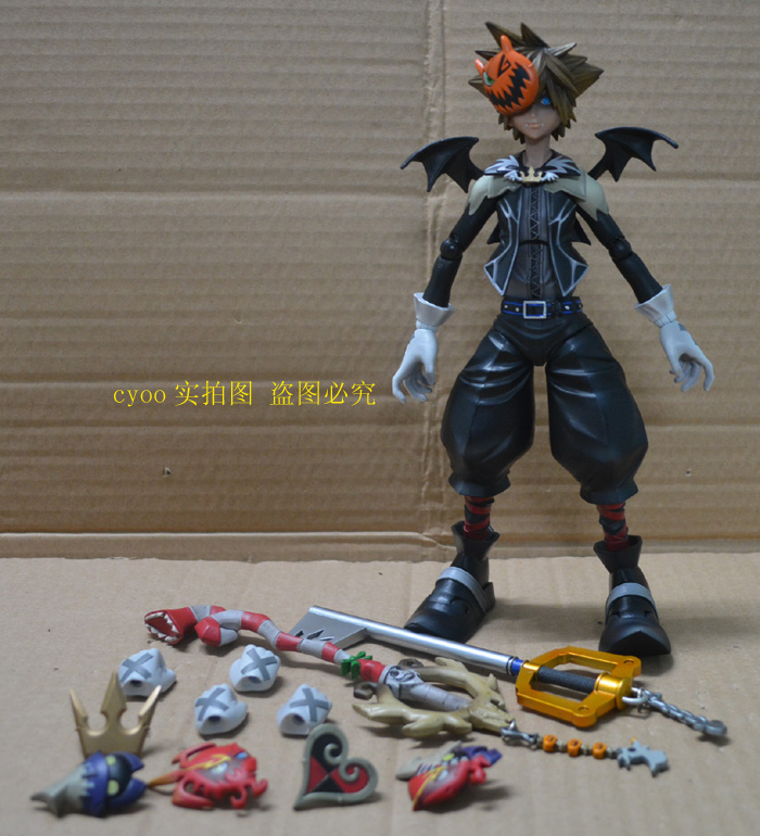 Original Kingdom Hearts Halloween Roxas Sora PVC Action Figure Toy Movie Game Anime Kingdom Hearts Playarts