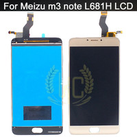 For Meizu L681H LCD Display Digitizer Touch Screen Assembly 5 5 White Black For Meizu M3