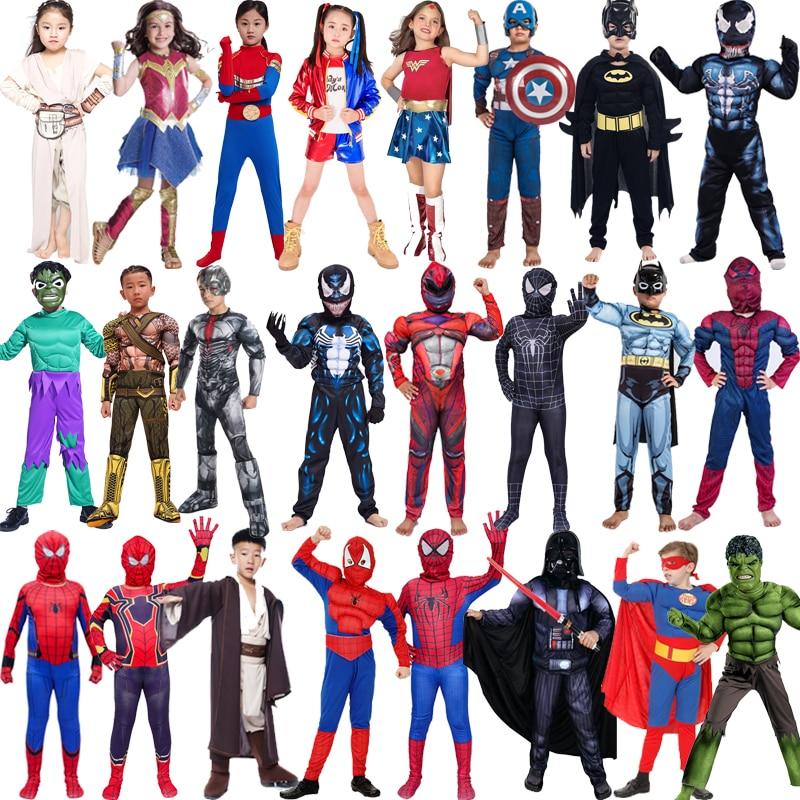 Spiderman, Superman, Iron Man, Carnival Costume for Boys, Halloween Carnival Costume for Kids, Star Wars, Deadpool, Thor, Ant-Ma