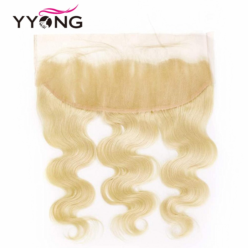 Yyong  Body Wave 613 Bundles With Frontal  Blonde Bundles With Closure  Lace Frontal With Bundles 4Pc/Lot 6