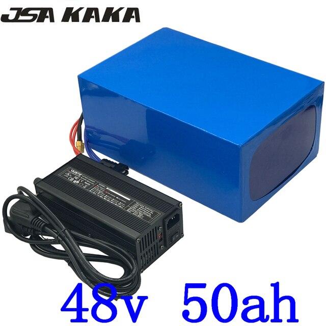 48V 배터리 48V 1000W 2000W 3000W 리튬 스쿠터 배터리 팩 48V 30AH 35Ah 40Ah 45Ah 50Ah 전기 자전거 배터리 + 5A 충전기