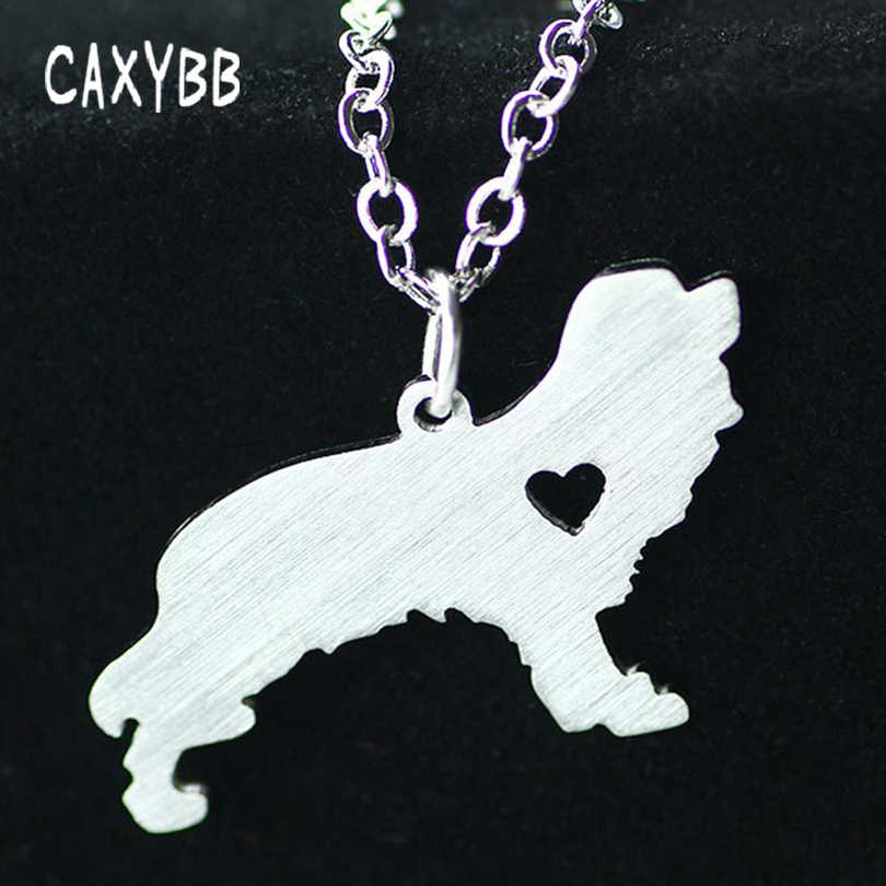 New Silver 1pc Cavalier King Charles Spaniel  Necklace  Stainless Steel Pet Jewelry Memorial Gift Animal Necklace Dog Pendant