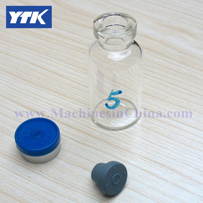 100pcs 5ml Glass Bottle with rubber stopper and flip off cap