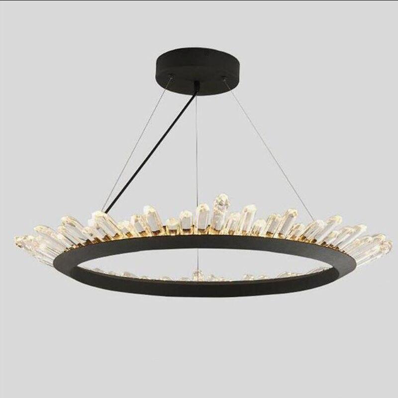 Modern Crystal Chandelier Contemporary Chandeliers Lamp for Bedroom Dining Room LED Black Lighting AC 110 V