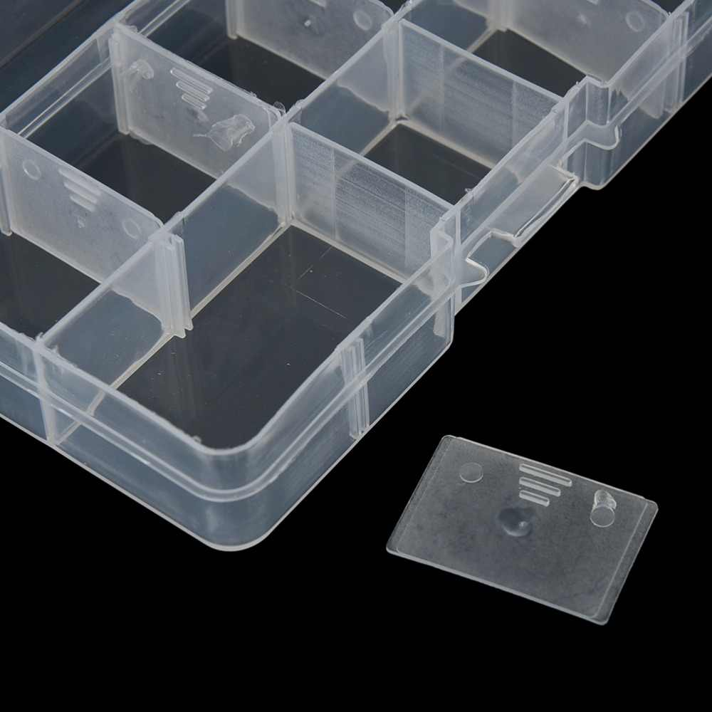새로운 10 구획 보관 케이스 상자 투명 낚시 루어 광장 Fishhook 상자 스푼 후크 미끼 태클 상자 물고기 액세서리 상자