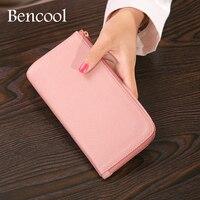 Bencool New Sale Long Zipper Women Wallets High Quality Genuine Leather Multicolour Fashion Appearance Design Noble