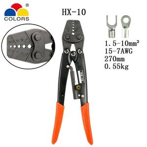 Image 1 - HX 10 обжимные плоскогубцы для неизолированных клемм (шестигранного типа) японский стиль емкость 1,5 10 мм2 15 7AWG электрические инструменты