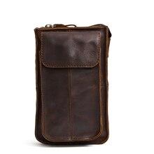 Bolsa Masculina Guaranteed 2018 New Arrivals Men Waist Bag Luxurious Cowhide Leather Man Mobile Phone Pocket Male Belt Sales